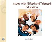 Issues with Gifted and Talented Education Multimedia