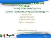 ORACLE ADF ONLINE TRAINING COURSE