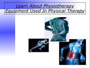 Learn About Physiotherapy Equipment Used In Physical Therapy