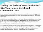 Finding The Perfect Corner Leather Sofa- Give Your Home a Stylish and