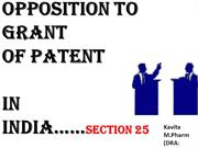 Presentation......Opposition to grant of patent