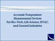 Accurate Temperature Measurement Devices for Industries