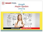 Google Major Changes 2013-14