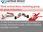 Think vertical direct marketing group for grow in business
