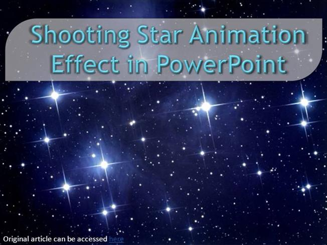 Shooting star animation effect in powerpoint authorstream toneelgroepblik Image collections