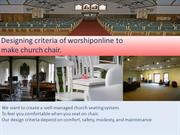 design pattern of Worshipchairsonline