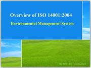 ISO 14001:2004 Environmental Management System