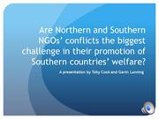 NGO ppt-3 northern and southern NGO's conflict