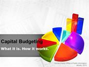Capital Budget: What it is.  How it works.