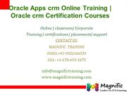 Oracle Apps crm Online Training , Oracle crm Certification Courses