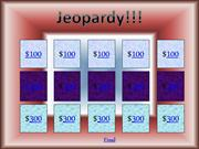 PSSA Jeopardy