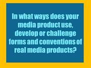conventions of real media products