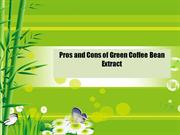 Pros and Cons of Green Coffee Bean Extract