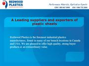A Leading Suppliers and Exporters of Plastic Sheets