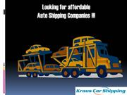 Looking for affordable Auto Shipping Companies