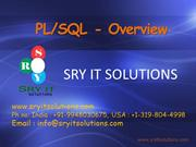ORACLE PL SQL Online Training | Online Oracle PLSQL Training