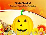 HAPPY HALLOWEEN PUMPKIN AUTUMN NATURE POWERPOINT BACKGROUND