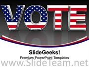 VOTE ELECTION AMERICANA POWERPOINT BACKGROUND