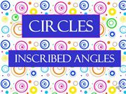 Circles inscribed angles