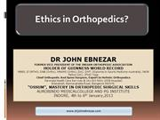 1.  Ethics in Orthopedics