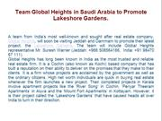 Team Global Heights in Saudi Arabia to Promote Lakeshore Gardens