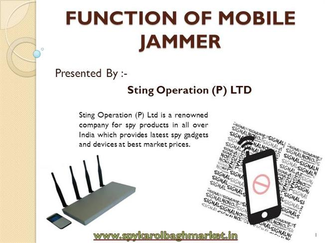 Function of mobile jammer authorstream ccuart Choice Image