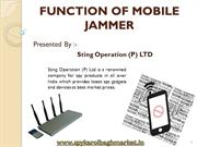 FUNCTION OF MOBILE JAMMER