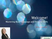 Mastering Body Language and Delivery Skills- By Kathy Cooperman