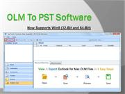 Free Convert of Mac OLM File to PST, MSG, EML