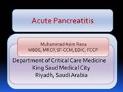 Acute Pancreatitis Basics