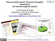 How we really search: the end of Google's supremacy?