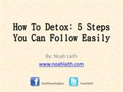 5 Simple Steps to Detox