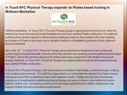In Touch NYC Physical Therapy expands its Pilates