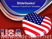 USA FLAG WITH HEART AMERICANA POWERPOINT BACKGROUND