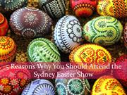 5 Reasons Why You Should Attend the Sydney Easter Show