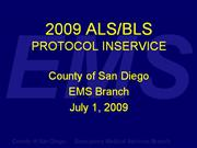 2009 SD County ALS BLS Protocol Changes