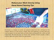 Using the Home cleaning Tips