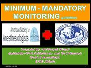 minimum mandatory monitoring during anaesthesia kalyani hospital