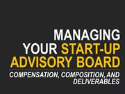 Managing Start-up Advisors