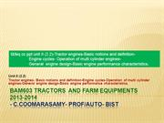 t&feq cc ppt unit II (2.2)Tractor engines  basicnotions and definition