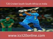 T20 Cricket South South Africa vs India