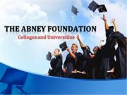 Abney and Associates Foundation: Colleges and Universities