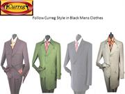 Follow Curreg Style in Black Mens Clothes