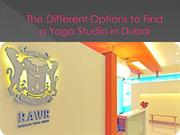 The Different Options to Find a Yoga Studio in Dubai
