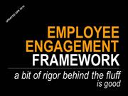 Employee Engagement Framework