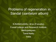 regeneration problems in sandal
