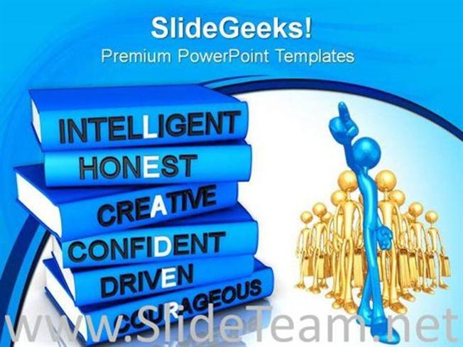 qualities of leadership powerpoint background powerpoint template