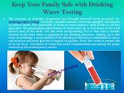 Drinking Water  Quality Testing Kits