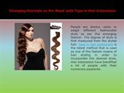 Tape in hair extension