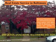 Property Management  services in Baltimore